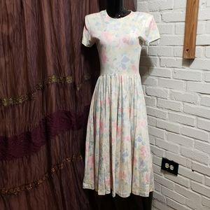 Vintage 80's Floral Valley Summer Dress
